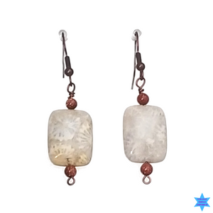 Off Set In Stone Earrings - Strange Things Emporium