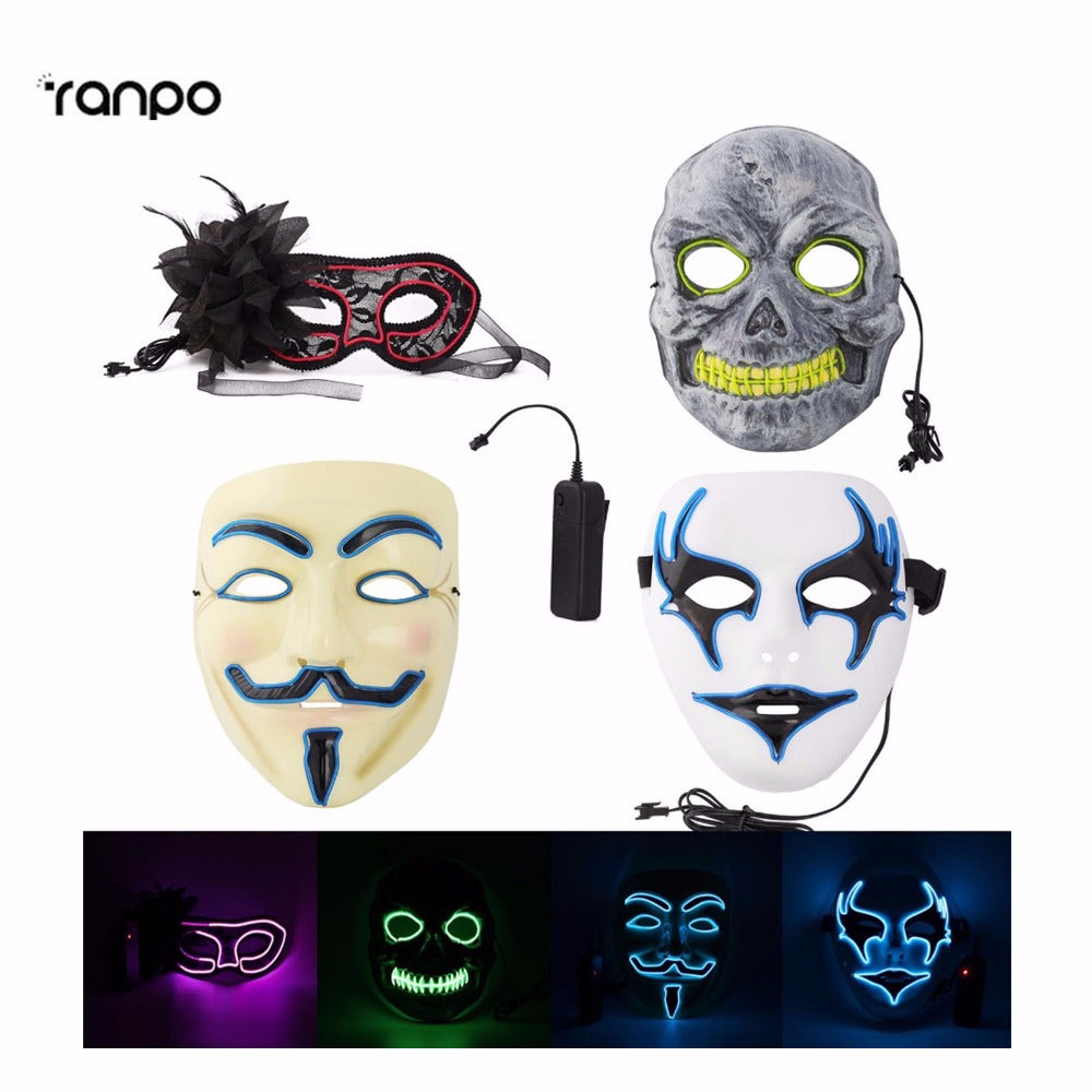 Light up Mask 4 Styles