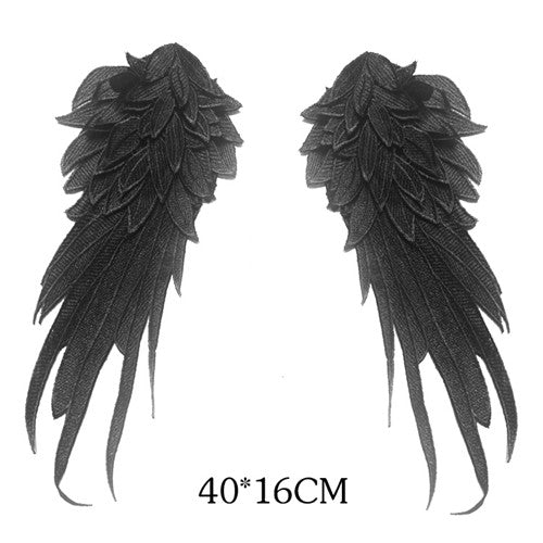 Embroidered Angel Wings Venice Lace - Strange Things Emporium