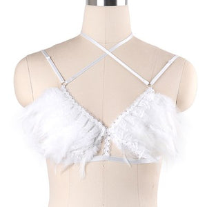 Feather Body Harness Top - Strange Things Emporium