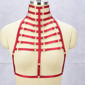 Neck Body Cage Harness - Strange Things Emporium