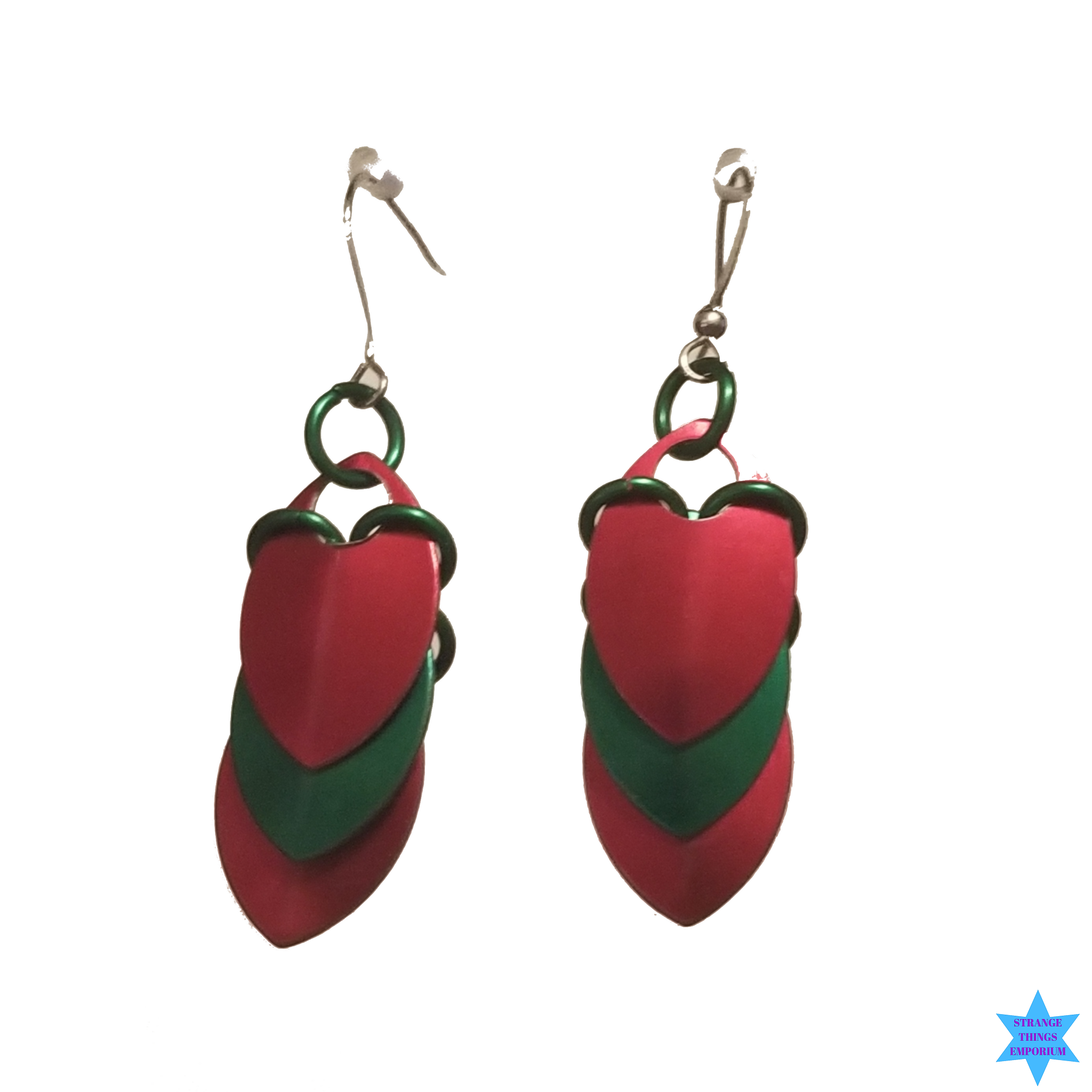 Mini  Peacock  Earrings - Strange Things Emporium