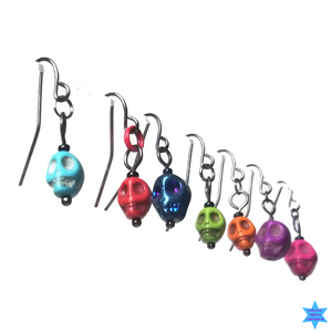 Colored Skull Earrings - Strange Things Emporium