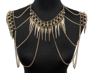 Spiked Body Chain - Strange Things Emporium