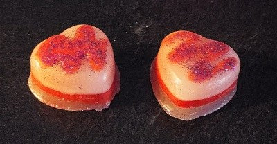 Strawberry Candy Cane Heart Wax Melts Bag - Strange Things Emporium
