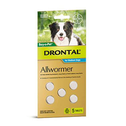 Bay-O-Pet® Drontal Allwormer Tablets For Dogs (Multiple Sizes)