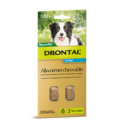 Bay-O-Pet® Drontal Allwormer Chewables For Dogs (Multiple Sizes)