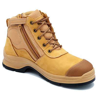 Blundstone Style 318 - Unisex Lace-up Zip Steel Cap Safety Boot