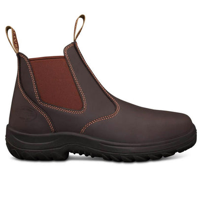 26-626 CLARET ELASTIC SIDED BOOT