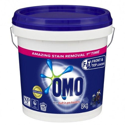 OMO Front & Top Active Clean Laundry Powder 8 Kg Bucket