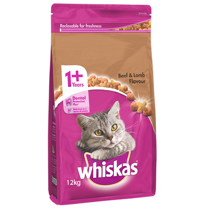 Whiskas® Adult Beef & Lamb Flavour