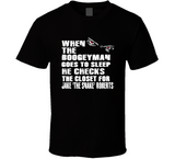 Jake The Snake Roberts Boogeyman Checks Closet Retro Wrestling T Shirt - Blazintees.com