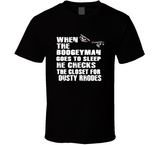Dusty Rhodes Boogeyman Checks Closet Retro Wrestling T Shirt - Blazintees.com