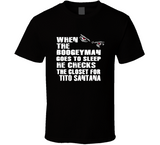 Tito Santana Boogeyman Checks Closet Retro Wrestling T Shirt - Blazintees.com
