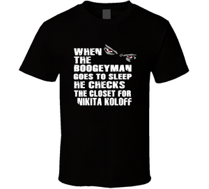 Nikita Koloff Boogeyman Checks Closet Retro Wrestling T Shirt - Blazintees.com