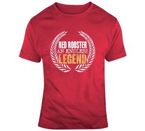 Red Rooster An Endless Legend Retro Wrestling T Shirt - Blazintees.com