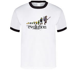 Evolution Of Link Legend Of Zelda Retro Video Game T Shirt - Blazintees.com