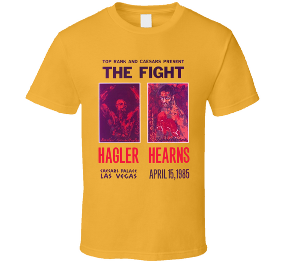 Hearns Vs Hagler The Fight Boxing Poster T Shirt - Blazintees.com