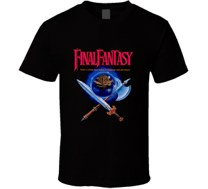Final Fantasy Nintendo NES Retro Video Game T Shirt - Blazintees.com