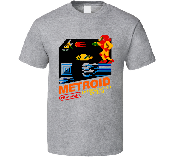 Metroid NES Nintendo Retro Video Game T Shirt - Blazintees.com