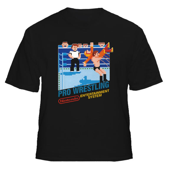 Pro Wrestling NES Nintendo Retro Video Game T Shirt - Blazintees.com