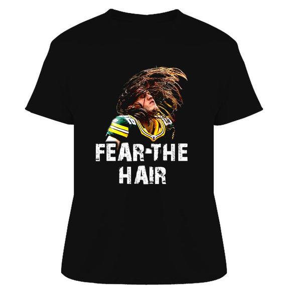 Clay Matthews Fear The Hair Green Bay Football T Shirt - Blazintees.com