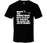 Justin Credible Boogeyman Checks Closet Retro Wrestling T Shirt - Blazintees.com