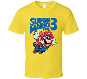 Super Mario Bros 3 NES Nintendo Retro Video Game T Shirt - Blazintees.com