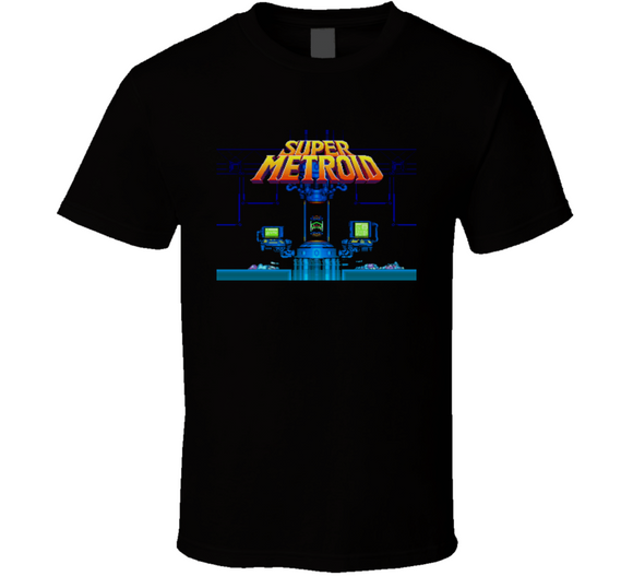 Super Metroid Super Nintendo SNES Retro Video Game T Shirt - Blazintees.com