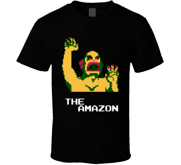 The Amazon Pro Wrestling NES Nintendo Retro Video Game T Shirt - Blazintees.com