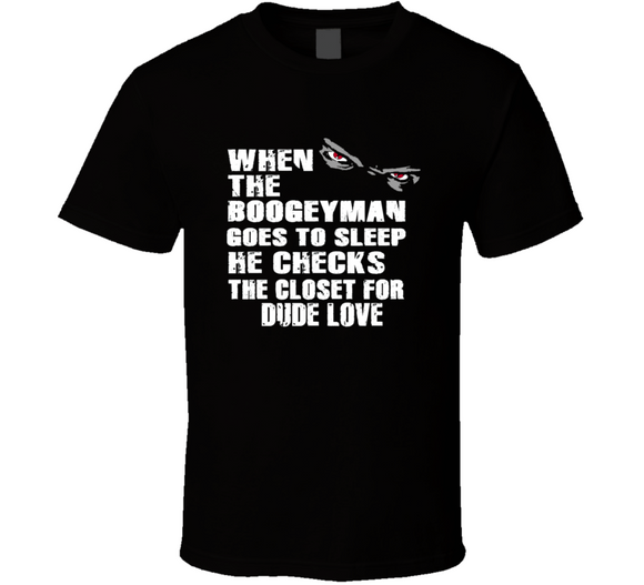 Dude Love Boogeyman Checks Closet Retro Wrestling T Shirt - Blazintees.com