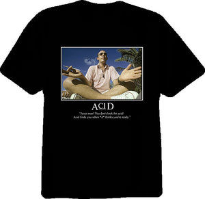 Hunter S Thompson Acid Quote T Shirt - Blazintees.com