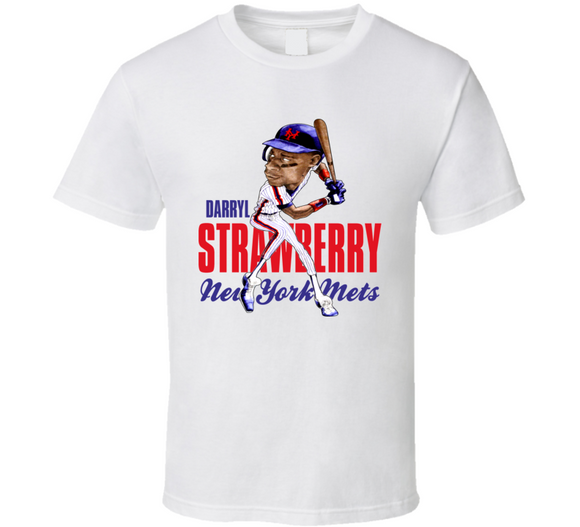 Darryl Strawberry New York The Straw Man Baseball Caricature T Shirt - Blazintees.com