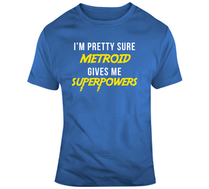 Metroid Gives Me Superpowers Retro Video Game V2 T Shirt - Blazintees.com