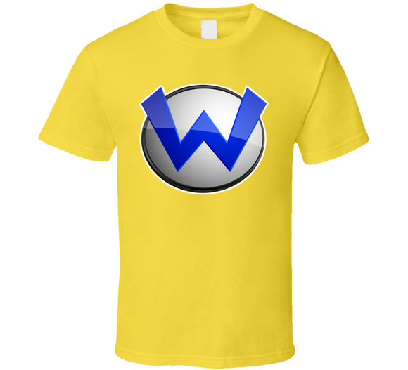 Super Mario Bros Wario Logo Retro Video Game T Shirt - Blazintees.com