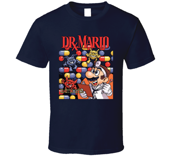 Dr Mario Nintendo Classic Retro Video Game T Shirt - Blazintees.com