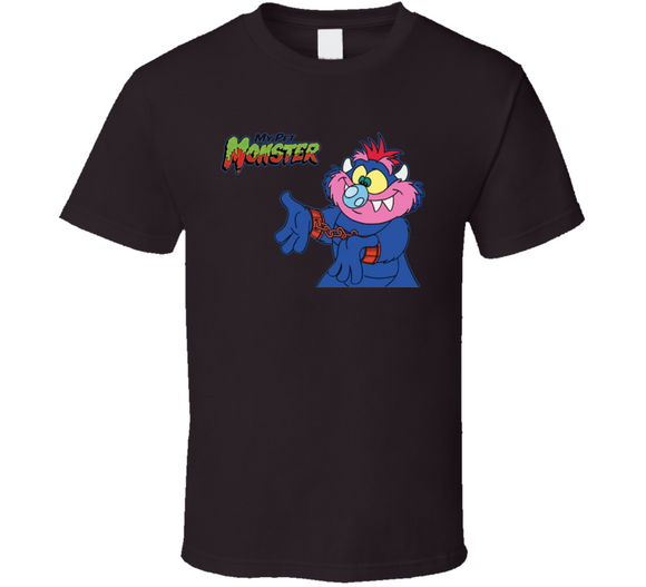 My Pet Monster 80's Retro Cartoon T Shirt - Blazintees.com
