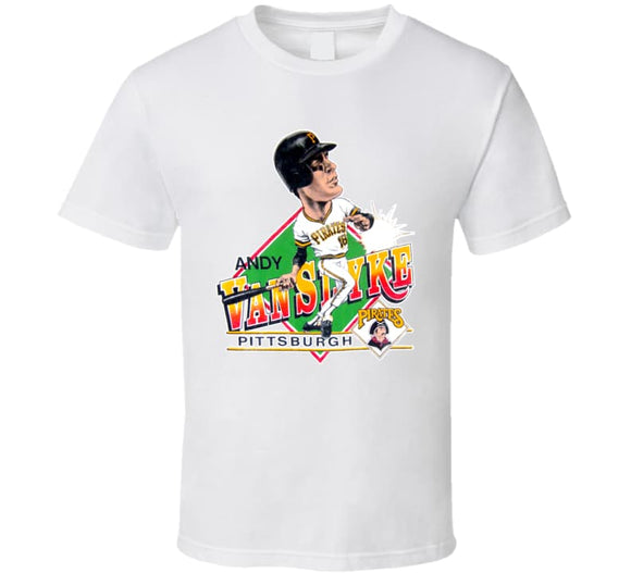 Andy Van Slyke Pittsburgh Baseball Caricature T Shirt - Blazintees.com