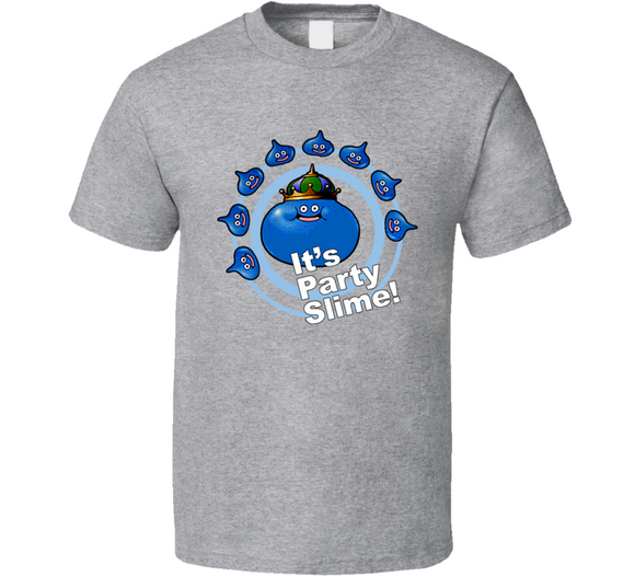Dragon Quest Slime Party Slime Retro Video Game T Shirt - Blazintees.com