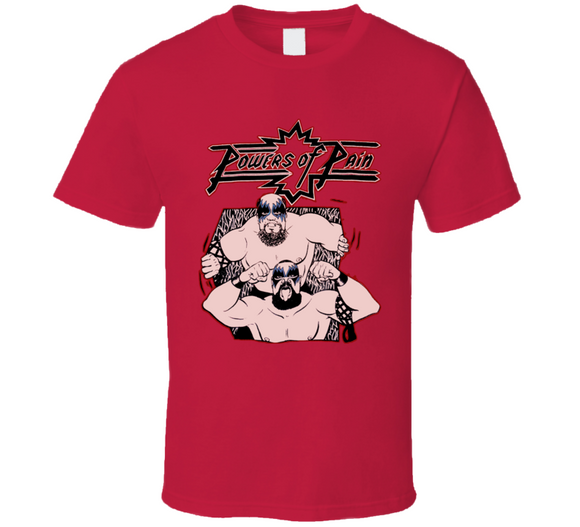 Powers Of Pain Warlord Barbarian Retro Wrestling T Shirt - Blazintees.com