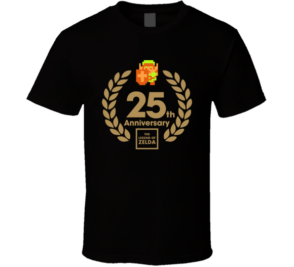 The Legend Of Zelda 25th Anniversary Link Retro Video Game T Shirt - Blazintees.com