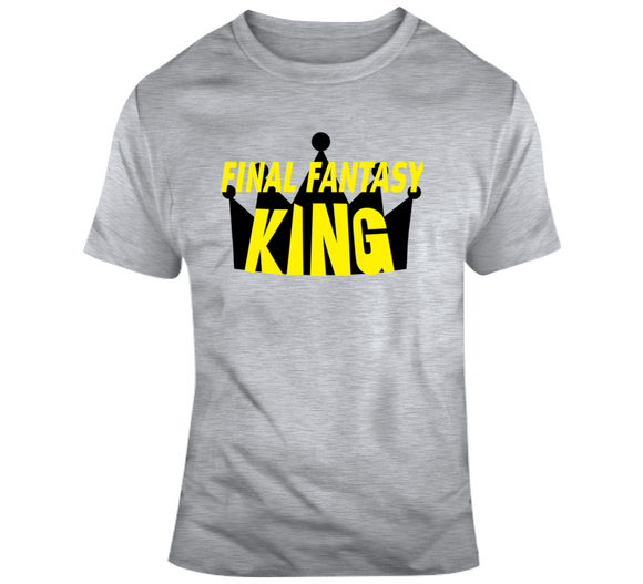 Final Fantasy King Retro Video Game T Shirt - Blazintees.com