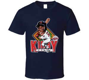 Kirby Puckett Minnesota Baseball Legend Caricature T Shirt - Blazintees.com