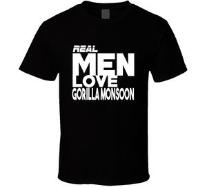 Gorilla Monsoon Real Men Love Retro Wrestling T Shirt - Blazintees.com