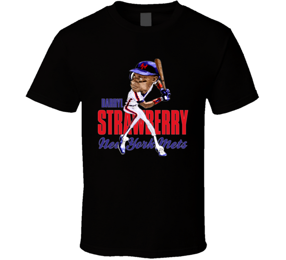 Darryl Strawberry The Straw Man New York Baseball Caricature T Shirt - Blazintees.com