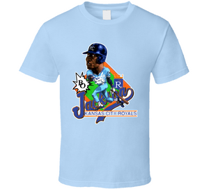 Bo Jackson Retro Kansas City Baseball Caricature T Shirt - Blazintees.com
