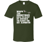 Sgt Slaughter Boogeyman Checks Closet Retro Wrestling T Shirt - Blazintees.com