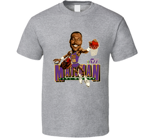 Karl Malone The Mailman Utah Basketball Caricature T Shirt - Blazintees.com