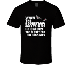 Big Boss Man Boogeyman Checks Closet Retro Wrestling T Shirt - Blazintees.com