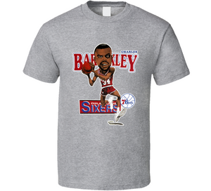 Charles Barkley Philadelphia Basketball Caricature T Shirt - Blazintees.com